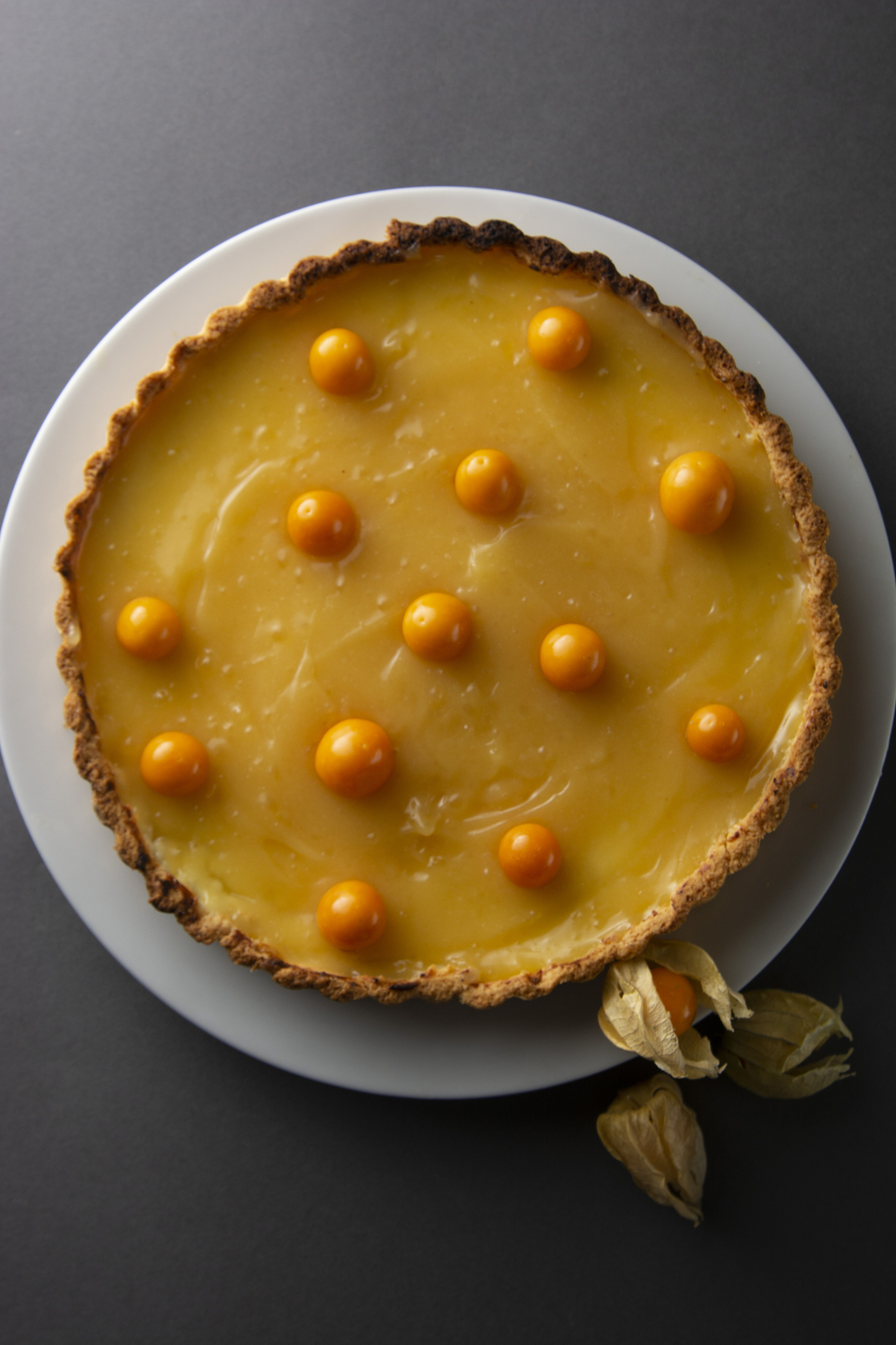 Lemon Curd Pie. Homemade Delicious Pie ,tart Filled With Lemon C