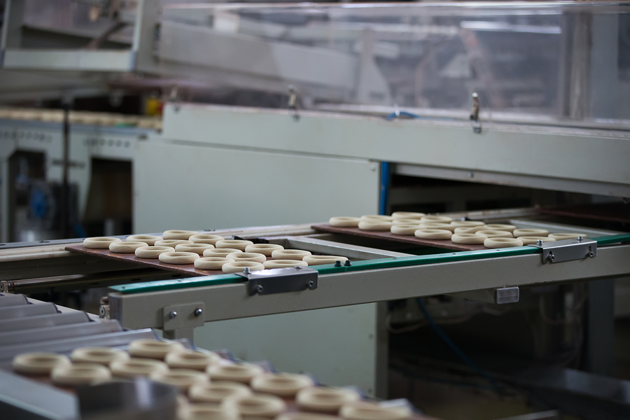 Industrial Line For The Production Of Biscuits And Bagels. Conve