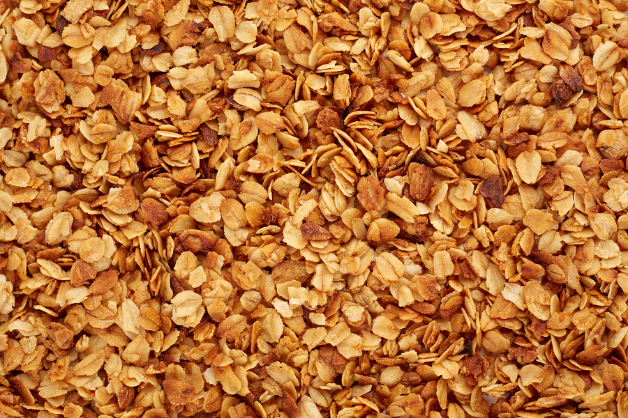 Organic Homemade Granola Cereal With Oats And Almond. Texture Oa